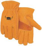 rukavice odolné ropným produktům, hovězí useň - XXL
